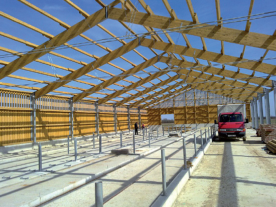 Farms poultry farms and facilities for the production of fodder